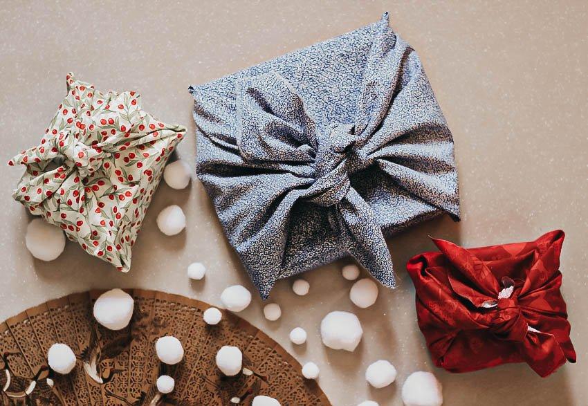 emballage-cadeau-noel-zéro-déchet-tissu-furoshiki